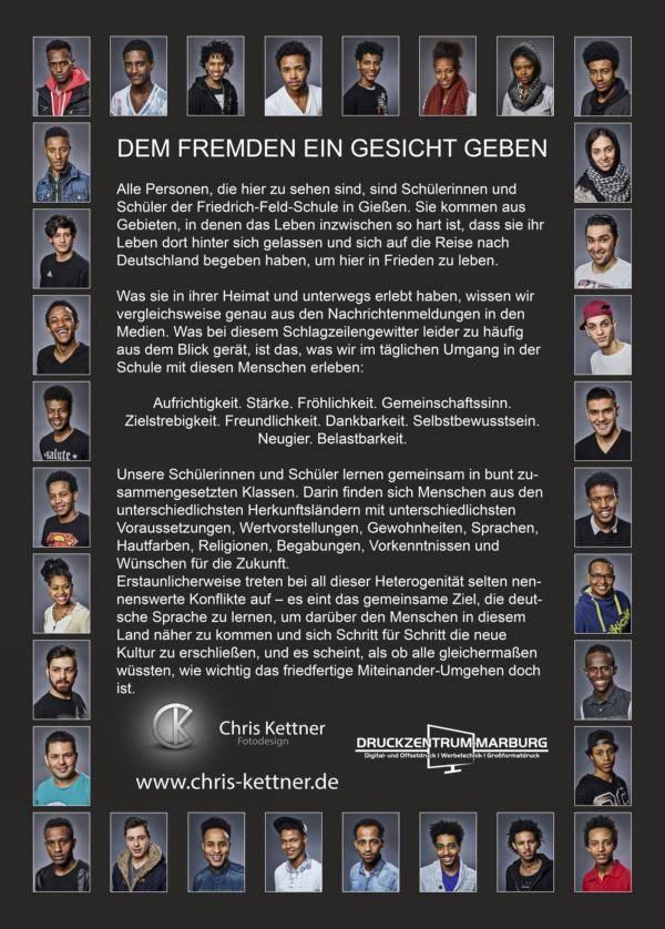 """Ausstellung im Rathaus """"Dem Fremden ein Gesicht geben"""""""
